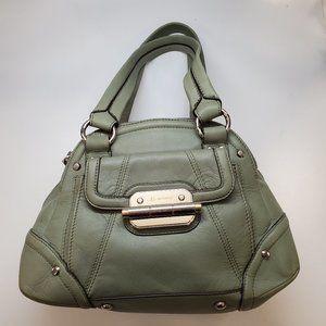 B. Makowsky Green Leather Handbag